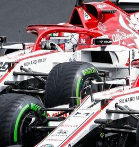 Kimi Raikkonen e Antonio Giovinazzi