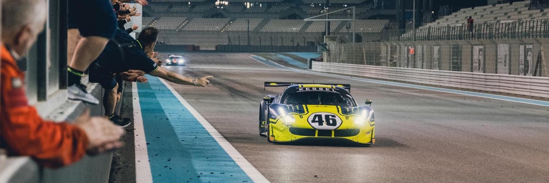Valentino Rossi con la Ferrari 488 GT3 del team Kessel Racing